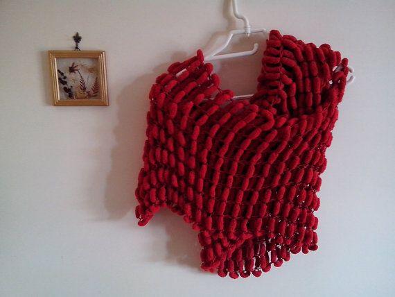 Sciarpa Donna Stola fatta ai ferri filato pon di Handmadesfiopi