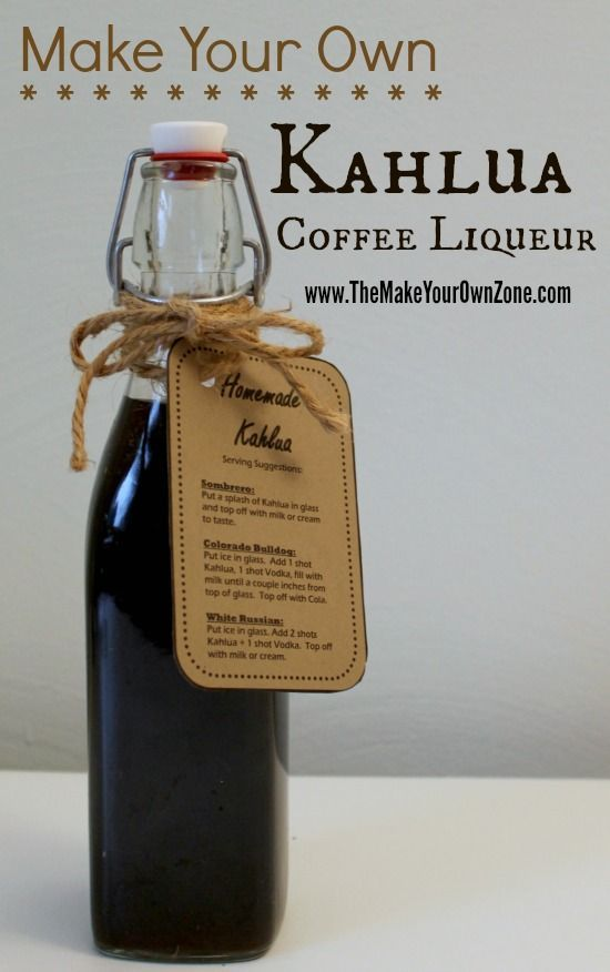 How to make homemade Kahlua coffee liqueur Coffee drinks, coffee lover, coffee…