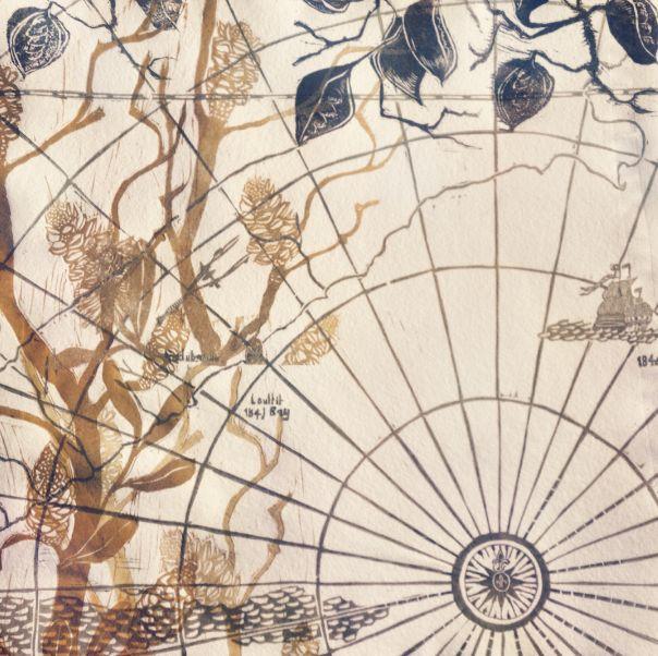 Solar Plate, Linocut & Collograph Orignal Print 2013