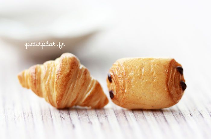 Croissant Earrings by ~PetitPlat on deviantART