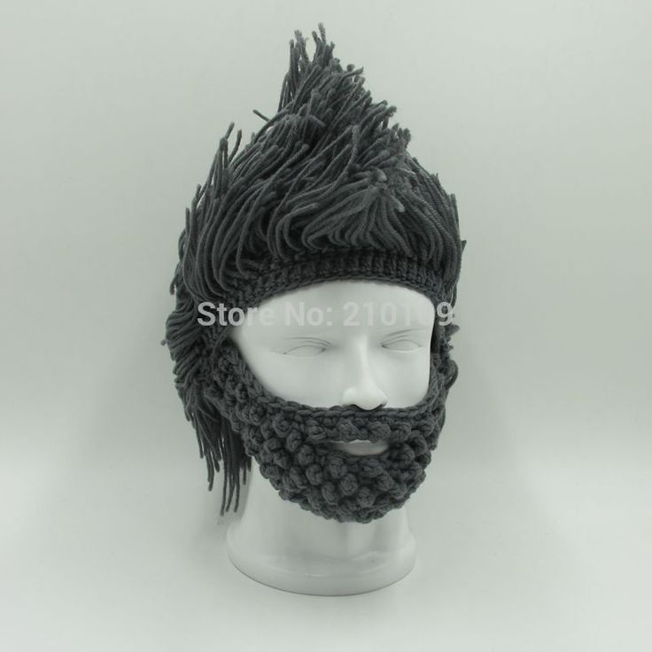 Вязаная шапка парик- борода. Заказать тут: http://ali.pub/kjw98