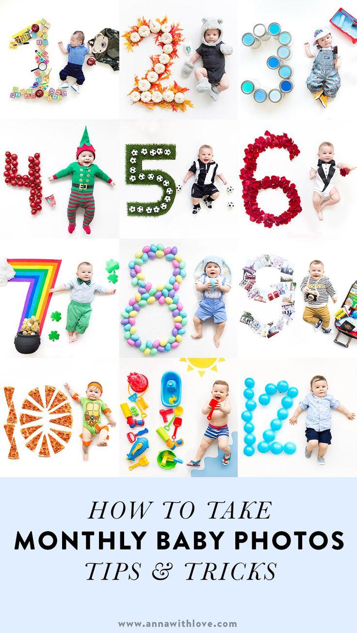 WIE MAN MONATLICHE BABYFOTOS NIMMT (1 – 12 MONATE)   – Annawithlove.com