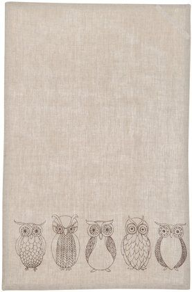 Owl tea towel <3  want this!