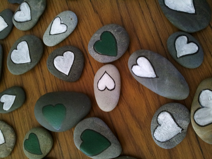 Hand Painted Rocks Collected From The Beach.......