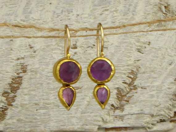 Amethyst Earrings by Omiya