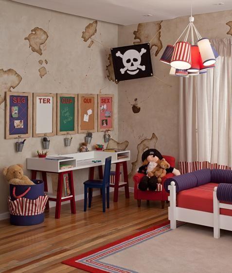 Decoração Pirata para Quarto de Menino, Decoração de Quarto Infantil | Vanessa Guimarães