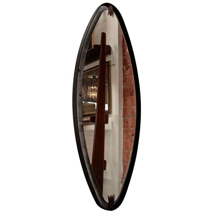 Ma+39's Oversized Iron, Brass Oval Mirror