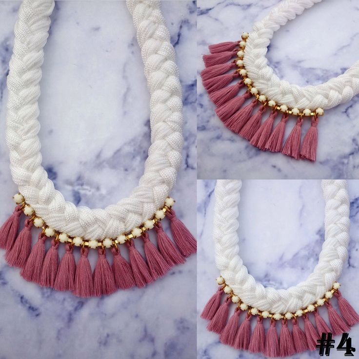 Welcome to my shop!  Wear summer in your neck, with this rope necklace inspired from Greek summer!   Measurements: length is about 30 cm (tassel length 2-3cm). The packages are sent through the Hellenic Postal System with tracking number. It comes to you ready to be given as a really special gift for your loved one , but even if it is for you, you will feel like having your own beautiful gift!!!  Made with ♥♥♥♥ in Greece by DadasLab! Contact me for any questions! Find DadasLab on Instagram…