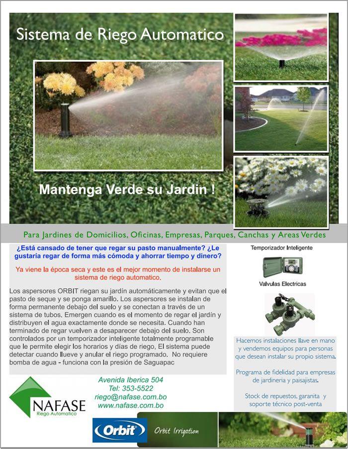 M s de 25 ideas incre bles sobre sistema de riego for Riego automatico jardin