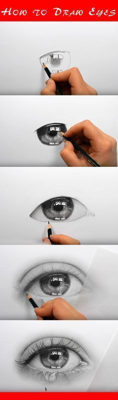 With the room in mind in the reflection. Draw realistic eyes with this step-by-step instruction. Full drawing lesson | {sketchy} | Pinterest | How to draw, Eye…