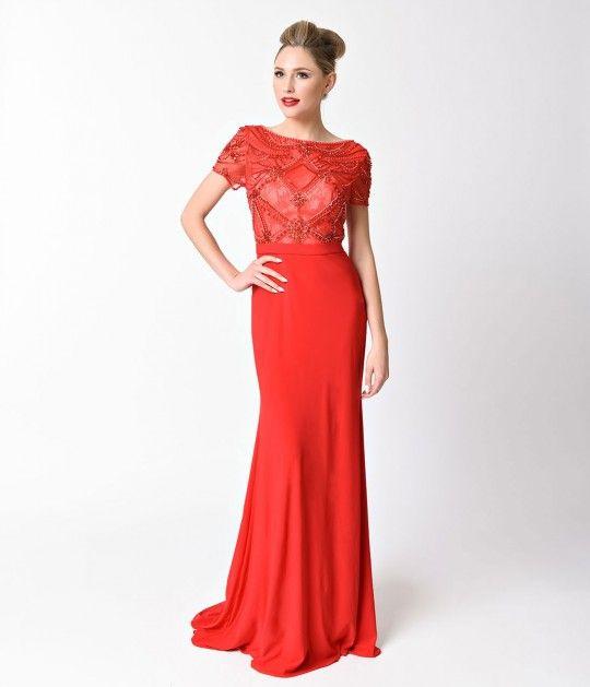 9 best UNIQUE VINTAGE PROM images on Pinterest | Full length dresses ...