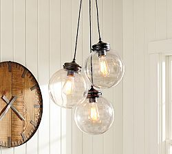 Pendant Lighting, Pendant Light Fixtures & Lights | Pottery Barn - calhoun multi pendant