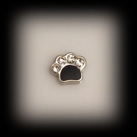 Paw Print Floating Charm | Latest fashion jewellery from around the world