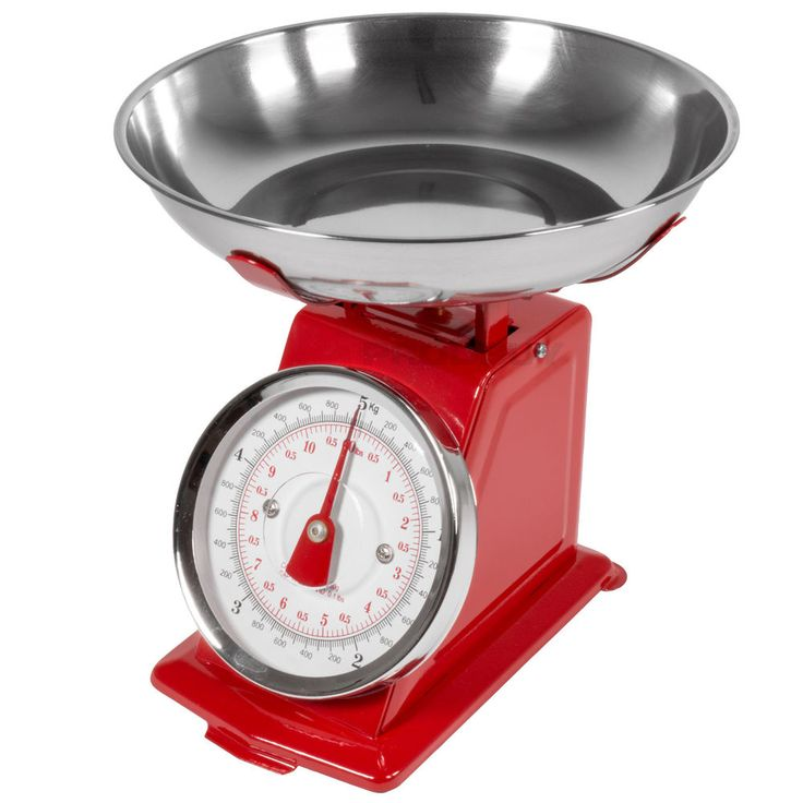5kg 11lbs Retro Traditional Red Kitchen Scales Stainless