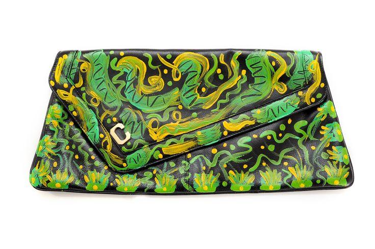 borsa da sera anni 70 dipinta a mano di sognidartebyadalgisa su Etsy