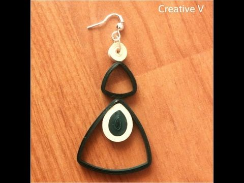 how to make quilling earrings
