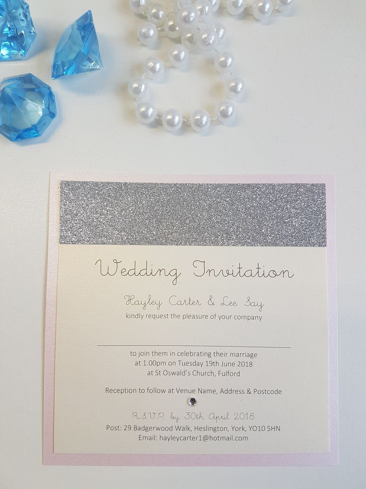 wedding invitation sample by email%0A Blush pink and glitter wedding stationery  Personalised invitations