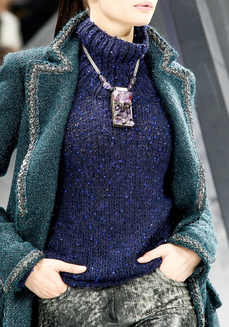 Chanel + Amethyst Statement Necklace = perfect