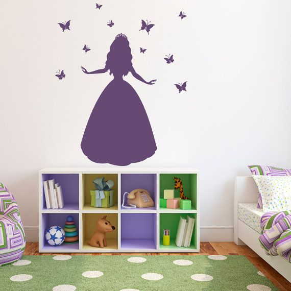 Princess Wall Decal with Butterflies  by StephenEdwardGraphic, $42.00