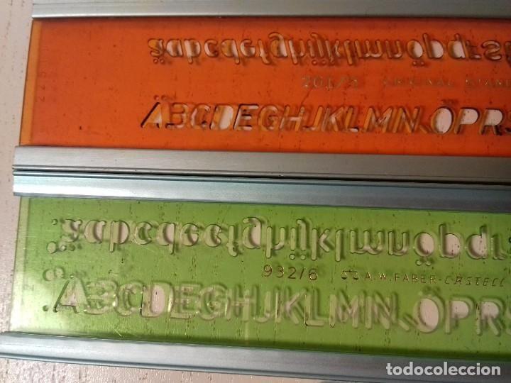 Coleccionismo: 3 PLANTILLAS LETRAS - STANDARDGRAPH / ROTRING FABER CASTELL - Foto 2 - 72428311