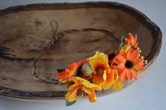 Fall Indulgence Flower Crown-Adjustable To by lovespuncreationsJL