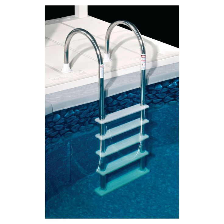 Standard Stainless Steel (Silver) In-Pool Ladder for Above Ground Pools