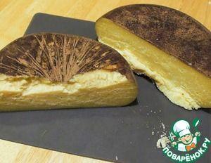 """Сыр """"Драй Джек"""" в обмазке из какао, кофе и перца. Сыр Драй Джек - это более сухой вариант американского сыра Монтерей Джек."""