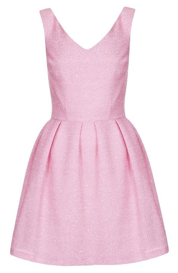 Pretty in pink | Fit and flare dress by Topshop