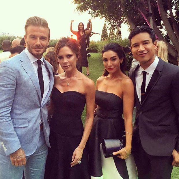 Eva Longoria: Jede Menge Stars, wie zum Beispiel Schauspieler Mario Lopez und seine Frau Courtney sowie Victoria und David Beckham, sind bei der Traumhochzeit dabei.