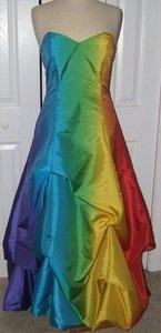 rainbow prom dress | Formal Prom Strapless Handmade Rainbow Prom Dress Multi Color, Sizes 6 ...