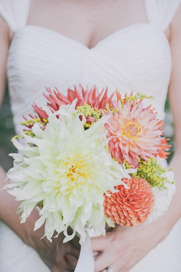 dahlia bouquet! // photo by Edyta Szyszlo…