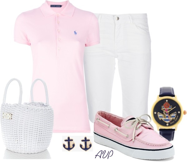 """Bermuda Shorts - Yacht Club"" by amy-phelps ❤ liked on Polyvore"