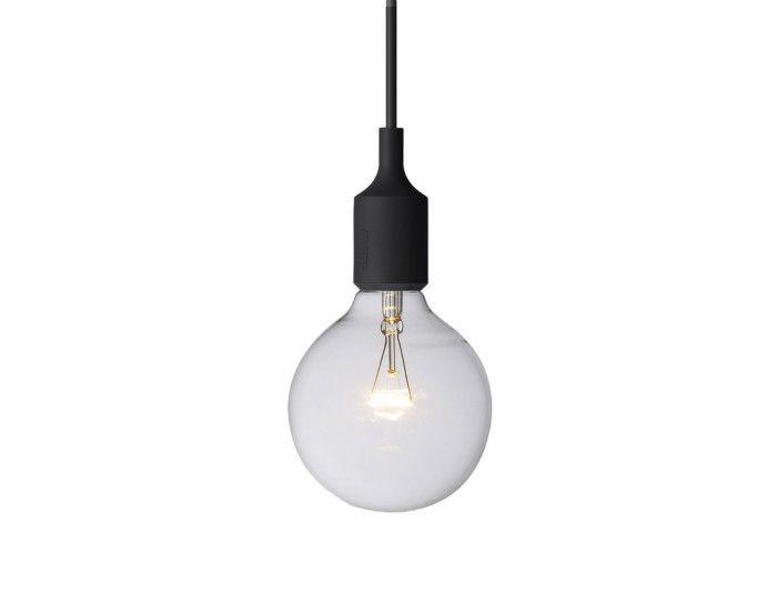 Lampa E27 od Muuto, černá
