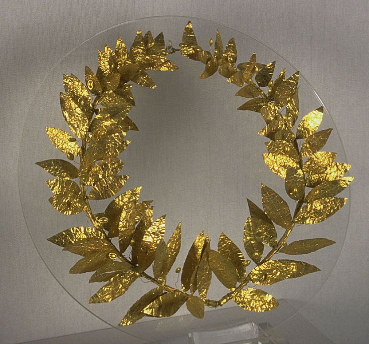Wreath, 4–3rd century BC. Greece, Crete. Gold. Museum purchase, Albert Campbell Hooper Memorial Fund. 1967.7. Currently on view in Gifts From the Gods: Art and the Olympic Ideal.