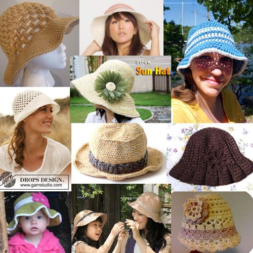 10 Free Crochet Summer Hat Patterns at mooglyblog.com and they're FREE! Have at it @Tina Doshi Doshi Mireles