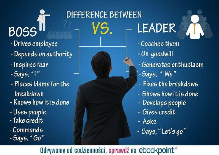 Boss vs. Leader  --- #boos #leader #ebook #work #business