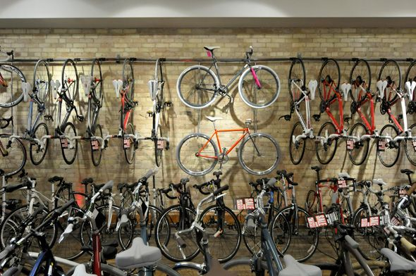 A shop that caters to commuters and hardcore riders — Broadway Cycle, 1222 Bloor St. W