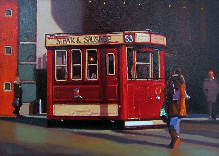 "Light Lunch, Manchester by Michael John Ashcroft Oil ~ 10"" x 14"""