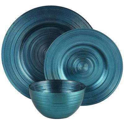 Peacock Metallic Dinnerware