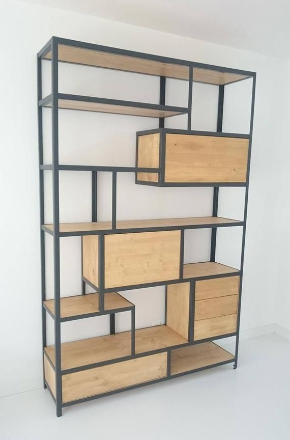 Staal Hout Kast.Steel And Wood Cabinet In 2019 Bar Kast Staal Hout Kast Eiken