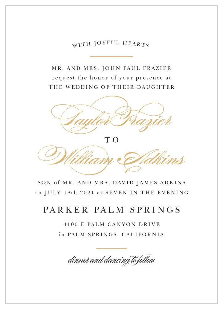 Timeless Charm And Graceful Typography Make The Elegant V Wedding Invitation Wording Examples Wedding Invitations Examples Wedding Invitation Wording Templates