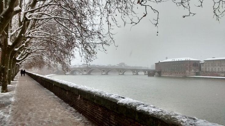 La Garonne hiver, Toulouse La Garonne invierno, Toulouse