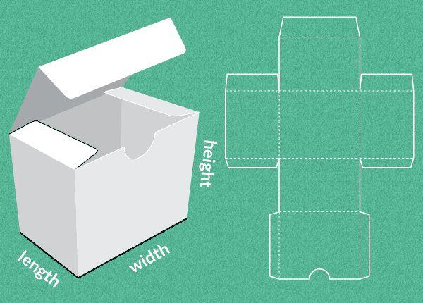 Completely custom sized template for a Gift Box. Site para criar caixas customizadas de diversos tamanhos e modelos