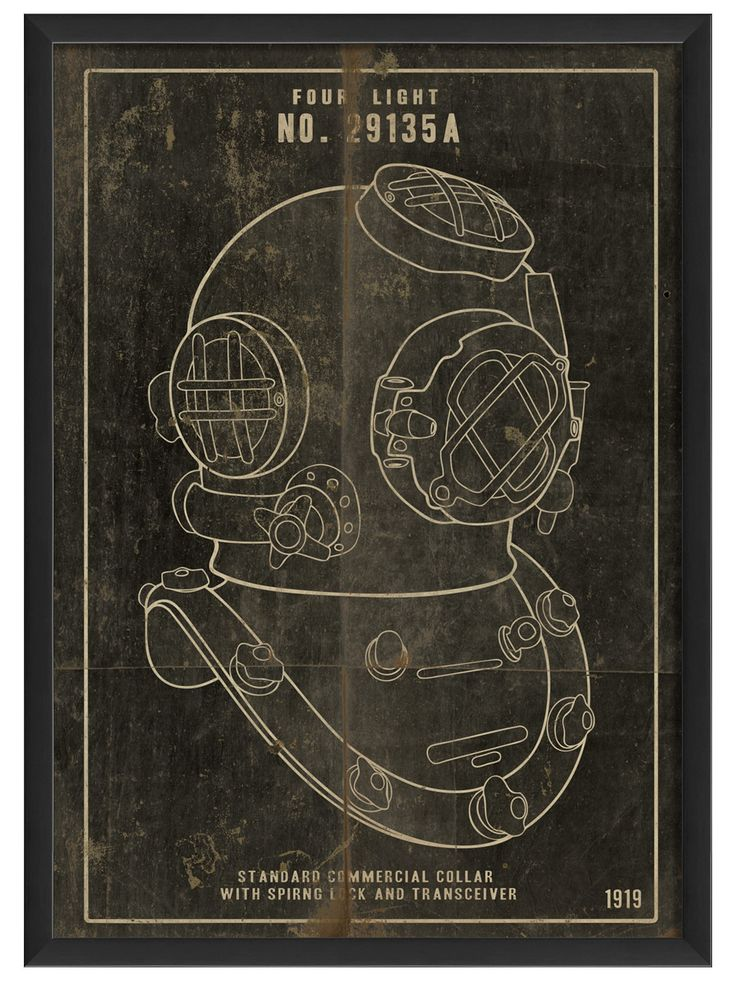 Diver Helmet, Black by Artwork Enclosed at Gilt