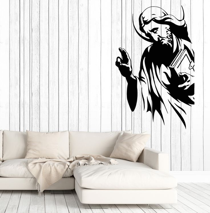 Large Wall Stickers Vinyl Decal Apostle Monk Religion Cross Decor (z2016)
