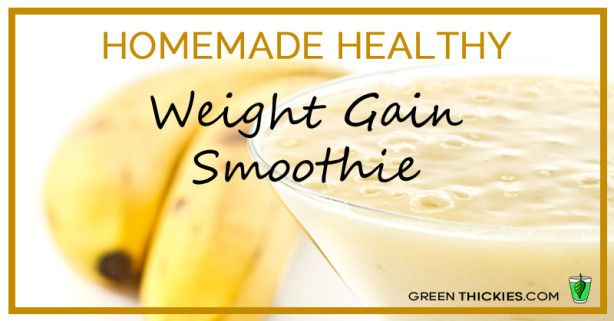 Do you struggle to gain weight? You don't need to eat junk food to put on weight. This homemade healthy weight gain smoothie will help you gain weight in a natural way.