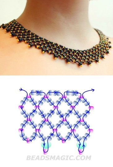 netted necklace ~ Seed Bead Tutorials