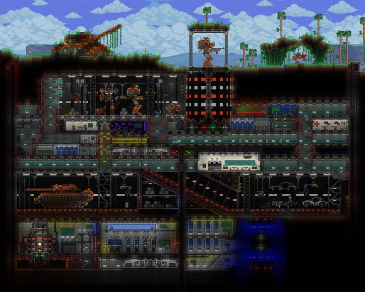 84 best cool terraria creations i need images on pinterest crazy awesome bunker httpforumsterrariaindexp malvernweather Gallery