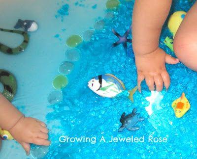 jello ocean sensory play activity