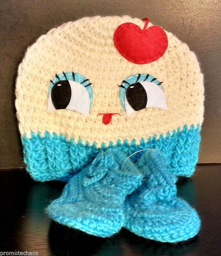 #MISSFLUFF #CUPCAKE #BEANIE #HAT #BOOTIE #BABY #SET #Crochet #Iceland #Yarn #Infant #Cherry #Fluff #Everyday